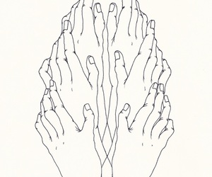 hands, outline, and simplicity image