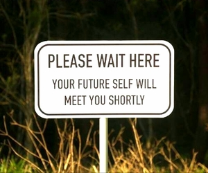 future, sign, and funny image