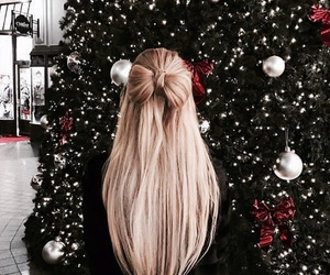 christmas, hair, and girl image