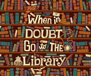 books, harry potter, and library image