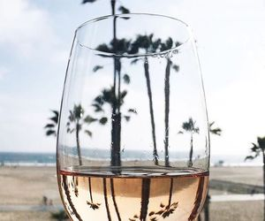 beach, glass, and summer image