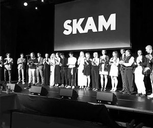 cast, party, and skam image