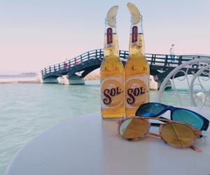 beer, sunrise, and lefkada image