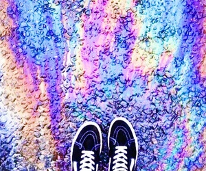 rainbow, shoes, and grunge image