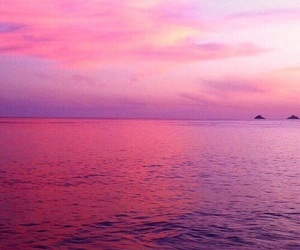 aesthetic, pink, and sea image