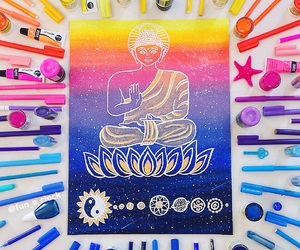 bliss, blue, and Buddha image