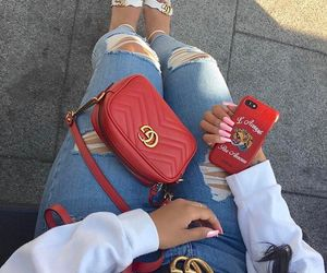 gucci, red, and instagram image