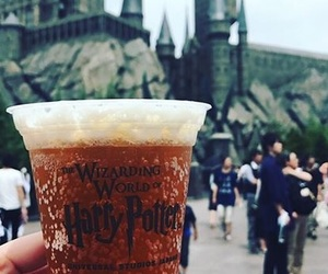 harry potter, butter beer, and universal studio image
