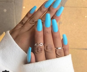 blue, ongles, and nails image