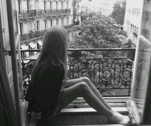 girls and black & withe image