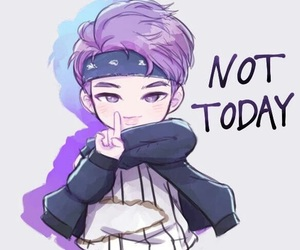 bts, not today, and rap monster image