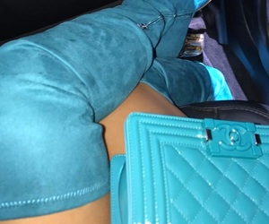 bags, blue, and boots image