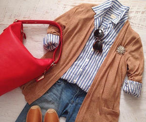 bag, cardigan, and chic image
