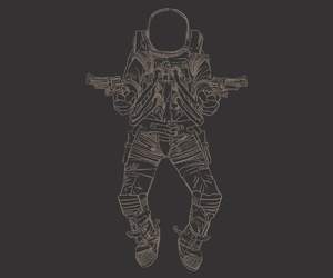 astronauts, illustration, and outer space image