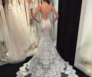 chic, wedding dress, and dress image