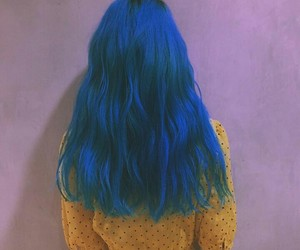 blue, hair, and icon image