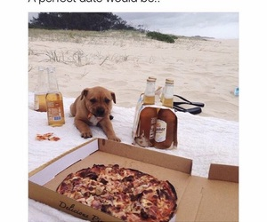 dog, pizza, and puppy image
