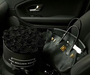 black and car image