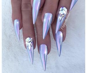 acrylic, chrome, and nails image