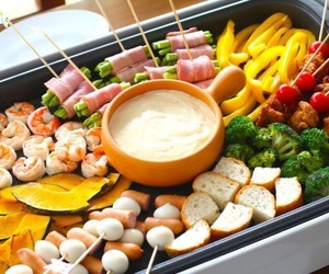 cheese, fondue, and food image