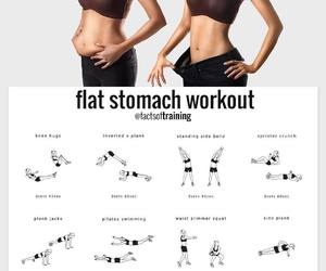 body, flat stomach, and fitness image