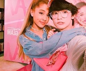 ariana grande, boy, and pink image
