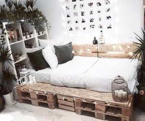 bed, indie, and plants image