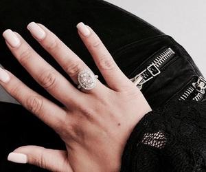 ring, nails, and beauty image