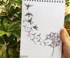 art, arts, and birds image