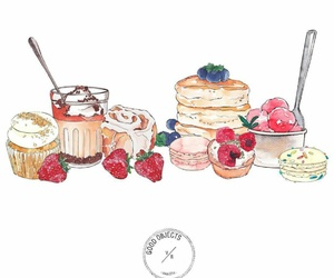 berries, illustration, and postre image