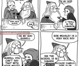 funny, harry potter, and dumbledore image