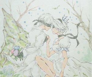 anime, game, and wedding image