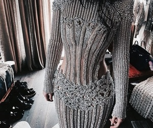 kylie jenner, dress, and Balmain image
