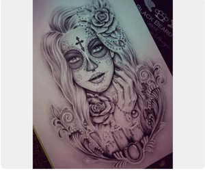 drawing, tattoo, and art image