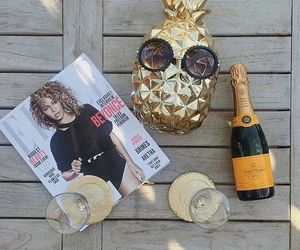 accessories, champagne, and summer image
