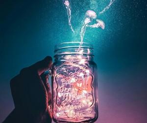 light, sky, and jellyfish image