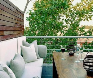 balcony, interior, and fashion image