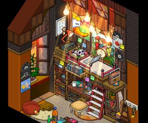 bed, orange, and bedroom image