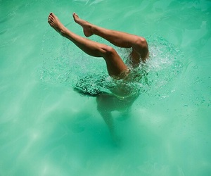 water, summer, and legs image