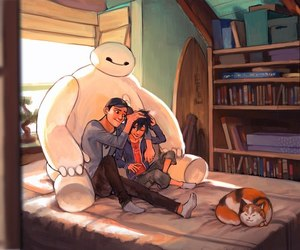 big hero 6, baymax, and hiro image