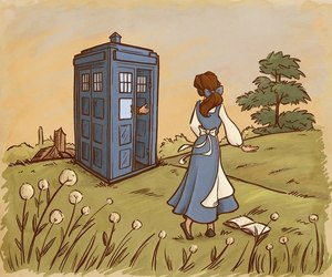belle, disney, and doctor who image