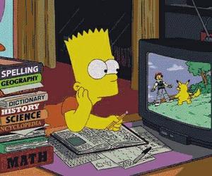 simpsons, pokemon, and bart image