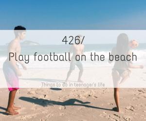 beach, football, and holiday image