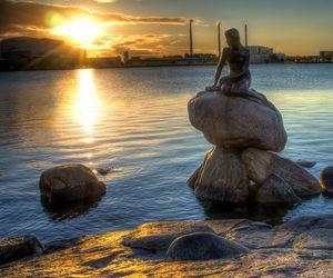 copenhagen, mermaid, and wanderlust image