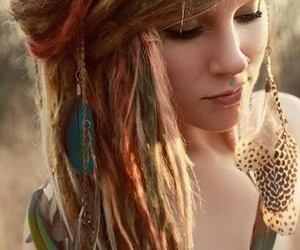 colored hair, mode, and pictures image