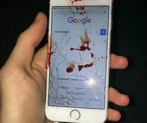 blood, iphone, and hate image