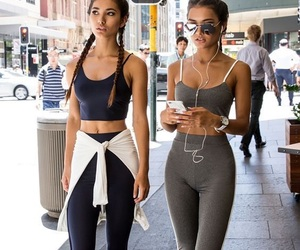 girl, friends, and fitness image