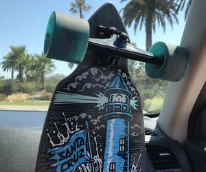 beach, board, and california image