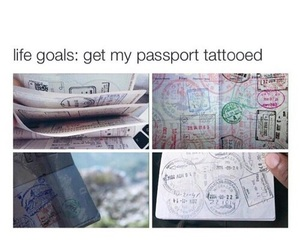 passport, goals, and travel image