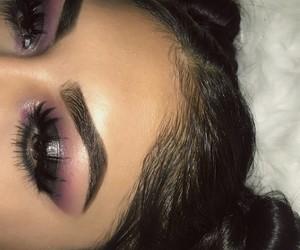 dress, eye shadow, and smokey eye image